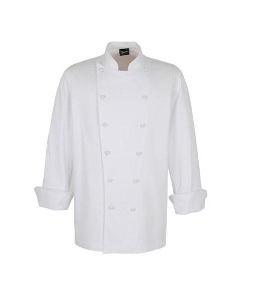 CHAQUETA cocina mao algodón botones forrados blanca unisex