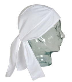 Pañuelo pirata Coolplus transpirable blanco unisex